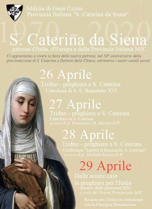 Festa di Santa Caterina da Siena 2020